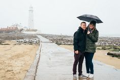 James & Becky's Lighthouse Engagement at Whitley Bay   Mustard Yellow Photography