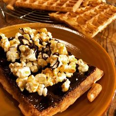 Pop Corn, Facebook, Twitter, Breakfast, Waffles, Home Made, Morning Coffee