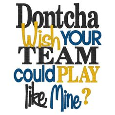 Dontcha Wish your Team could Play like Mine? Onesie by LadybugCreations74 on Etsy