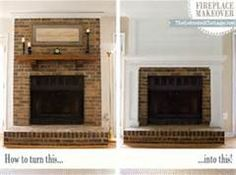 Fireplace Redo Budget Friendly Makeover Update Their Existing Brick With Wood Planking