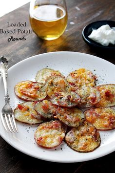 Loaded Baked Potato Rounds | diethood.com