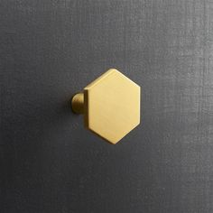 form + function. Popular in bathrooms and kitchens, the hexagon adds a sophisticated graphic element to doors and drawers.  Handmade of solid brushed brass, knobs up the design factor of existing cabinets.