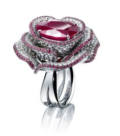 Purple Rose ring, set with a 10ct Burmese ruby via #Pinterest Rings