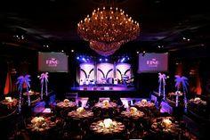 Incredible lighting at an Art Deco themed Bar Mitzvah {Photo by John Solano Photography}
