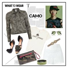 """""""Camo♥♥♥"""" by marthalux ❤ liked on Polyvore featuring Billabong, VILA, Tory Burch, Valentino, Versace, HUGO, Hermès and camostyle"""