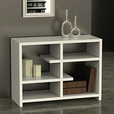 Convenience Concepts Northfield Floating Console Bookcase, White