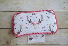 READY TO SHIP Tribal Floral Deer Head Travel by LauraLeeDesigns108
