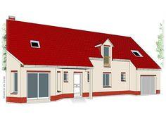 Modèle PC-67  Pavillon avec garage comprenant cuisine, séjour, hall, salle de bains, WC, 1 chambre et 1 cellier au rez-de-chaussée. 3 chambres, 1 dressing, 1 salle de bains et palier à l'étage.  Surface Habitable : 152,50m²