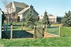 easy garden fence ideas | Post and Rail and Welded Wire styles by Protection Fence Company