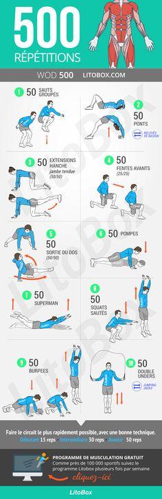 500 répétitions pour travailler tout le corps (exercices sans matériel)