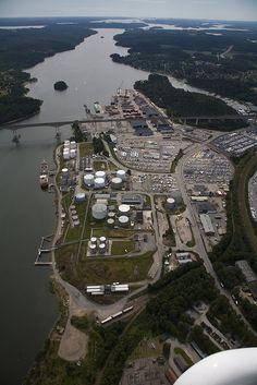 Oil Port in Södertälje