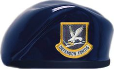 Air Force Security Forces Dark Blue Ceramic Berets are sold one per pack. Available with enlisted or officer flash