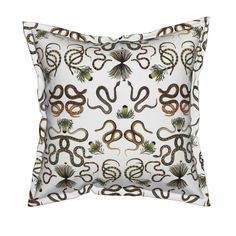 Serama Throw Pillow featuring SERPENTINE by lyndsay_douglas | Roostery Home Decor