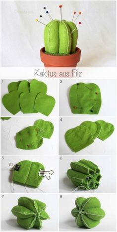 Cactus sewing pattern and sewing tutorial. Very cute cactus to decorate. For mor. - Cactus sewing pattern and sewing tutorial. Very cute cactus to decorate. For more sewing patterns, - Easy Sewing Projects, Sewing Projects For Beginners, Sewing Hacks, Sewing Tutorials, Sewing Crafts, Craft Projects, Diy Crafts, Sewing Tips, Sewing Ideas