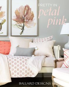 Pink accents brighten up the decor in any room