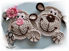 Crochet PATTERN Applique Monkey Aplication par NellagoldsCrocheting