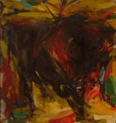 Arena No. 2,1960 Oil on canvas 80 x 72 inches (203.2 x 182.88 cm) - #elaine #kooning #art #painting #oil #abstract #expressionist #expressionism