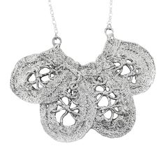 Monika Knutsson: Annie Lace Necklace, in Gold or Sterling Silver #MarthaStewartAmericanMade #Pendant