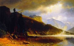 Unframed Canvas Prints - Echo Lake, Franconia Mountains, New Hampshire - By Albert Bierstadt