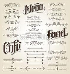 menu, food