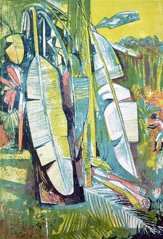 Buy online, view images and see past prices for John Minton - lithograph, tropical scene. Invaluable is the world's largest marketplace for art, antiques, and collectibles. Art And Illustration, Illustrations, Graphic Design Illustration, John Minton, Tropical Art, Print Artist, Art Sketchbook, Creations, Fine Art