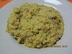 Risott zucchine speck e galbanino