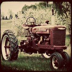Vintage Tractor Photography Farm  5x5  Original by GardenBlues, $12.50
