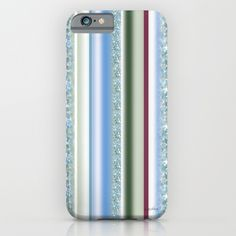 Buy Canopy Stripe iPhone & iPod Case by Vikki Salmela. Worldwide shipping available at Society6.com. #watercolor #floral #stripe in #blue #green #art on #fashion #phone #cases for #her #office #travel or #gift.
