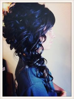 Curly Up-Do hairstyle