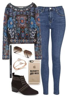 Untitled #1326 by mihai-theodora ❤ liked on Polyvore featuring Topshop, Ray-Ban, Casetify, Zara, Bobbi Brown Cosmetics and Bloomingdale's