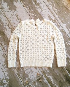 Check out this listing on Kidizen: Size S 5 White Crochet Spring Sweater  via @kidizen #shopkidizen