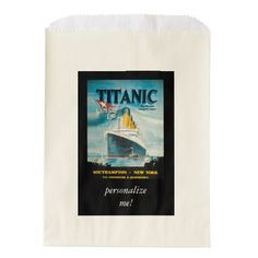 RMS Titanic Travel Ad Favor Bag