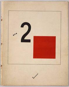 """Pro dva kvadrata"" by El Lissitzky  El Lissitzky (Russian, 1890-1941)    Printer: E. Haberland, Leipzig, Germany. 1920. Letterpress, 11 x 8 3/4"" (28 x 22.3 cm). Jan Tschichold Collection, Gift of Philip Johnson"