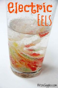 """""""Marinate"""" gummy worms in a concoction that turns them into """"electric eels."""""""