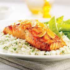 Filets de saumon, sauce à l'orange/coup de pouce