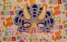 5X7 Dinosaur 02 Kids Mask Applique Embroidery Design