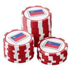 Liechtenstein Poker Chips Set - #customizable create your own personalize diy
