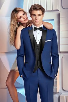 Wedding Suits Tribeca Cobalt Blue Tuxedo - Brand new for - Morilee Trunk Show Book Your Appointment Now Our New Blue, Slim-Cut Tux and Sincerity Dress Book your Appointment Today. Blue Tuxedo Wedding, Black Tie Tuxedo, Prom Tuxedo, Slim Fit Tuxedo, Tuxedo Suit, Wedding Suits, Wedding Tuxedos, Black Vest, Prom Blazers