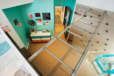 Jennie Garth, host of HGTV's The Jennie Garth Project, created an active space within her daughter Fiona's bedroom, complete with monkey bars and a rock climbing wall.