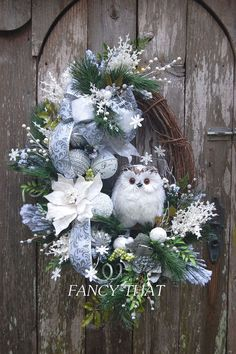 - Holiday wreaths christmas,Holiday crafts for kids to make,Holiday cookies christmas, Owl Wreaths, Wreath Crafts, Xmas Crafts, Diy Wreath, Holiday Wreaths, Winter Wreaths, Wreath Ideas, Summer Door Wreaths, Wreath Making