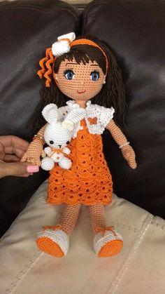Amigurumi Patterns, Amigurumi Doll, Doll Patterns, Crochet Patterns, Cute Crochet, Crochet Dolls, Knit Crochet, Crochet Hats, Adult Crafts