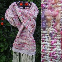 Roseberry Handwoven Scarf - Scarves, Wraps & Accessories - The Crafty Cailín
