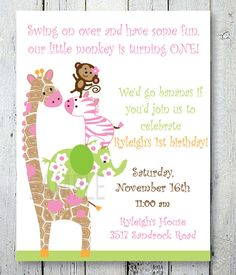 Jungle Jill Birthday or Baby Shower by PenguinPartyPress on Etsy