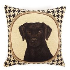 DecRenew: Twos Company 50162 Double Sided Houndstooth Labrador Pillow (Pack of Sofa Pillows, Throw Pillows, My Ideal Home, Hounds Tooth, Two's Company, Home Furnishings, Labrador, Wall Art, Labs
