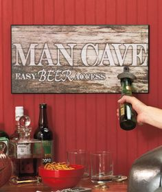 Man Cave Sign With Opener|The Lakeside Collection
