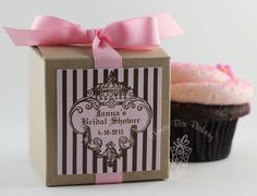JUICY CUPCAKE COUTURE -Cupcake Mix Party Favors for Weddings, Baby Showers, Bridal Showers, and Bachelorette Parties- Set of 12 Favors. $40.00, via Etsy.