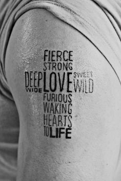 His love is fierce, strong, deep, wide, sweet, wild, furious,and waking hearts to life