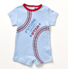 Newborn Future Sport Star Baseball Creeper - Baby Essentials Bubble Dresses & Sets - Events