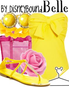 Be the bell of the beach in this Belle Outfit    Disney Fashion   Disney Fashion Outfits   Disney Outfits   Disney Outfits Ideas   Disneybound Outfits   Beauty and the Beast Outfit   Disney Princess Outfit  