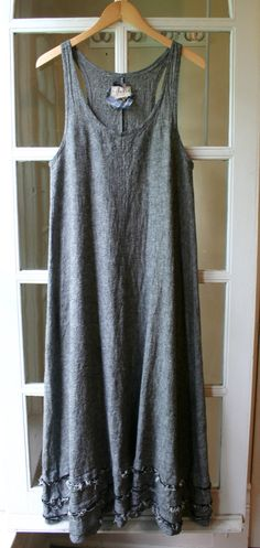 Linen 'Meg' Jumper Sundress Long / by BreatheAgainClothing